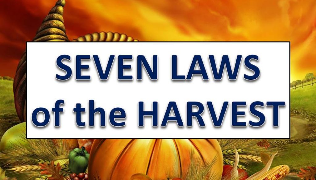 Seven Laws of the Harvest